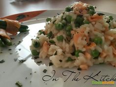 Risotto piselli e salmone  #ricette #food #recipes