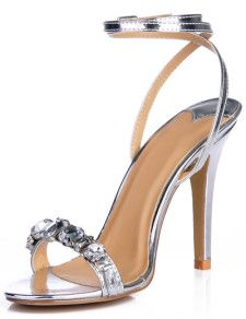 These beautiful gleaming gem silver prom high heel sandals are a must for any one wanting to be prom queen. If you like these please share and goto my website highheelhaven.com or visit my facebook page highheelhaven