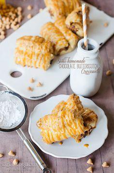 Semi-homemade Chocolate Butterscotch Croissants by ©Bakingdom