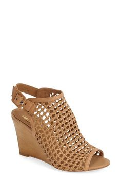 VC+Signature+'Cleone'+Woven+Leather+Peep+Toe+Wedge+Sandal+(Women)+available+at+#Nordstrom