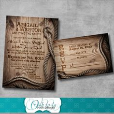 Good Rustic Wedding Invitation With Matching Response Card   DIY   Printable    Customizable   Western.