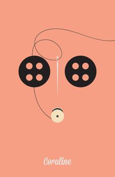 Coraline - Minimalist Posters by Angela Skinner in 110+ New Minimal Movie Posters
