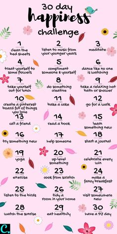 Want To Know How To Be Happy? Take This 30 Day Happiness Challenge! - Captivating Crazy