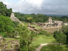 view+of+the+site+from+the+moon+temple Palenque mexican maya ruins