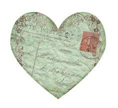 Vintage Postcard Heart ~ Sisters' Warehouse