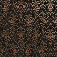 """Havana"" now available in Noir! Bradbury's Art Deco collection. #BradburyWallpaper"