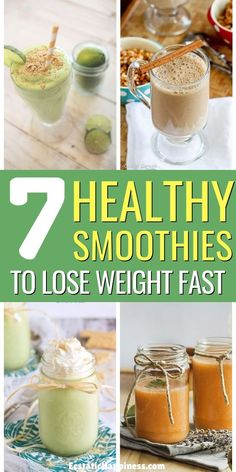7 Easy & Healthy Smoothie Recipes for Weight Loss Carb Diets To Lose 10 Pounds Fast Healthy Smoothies for Weight Loss! These healthy smoothie recipes are perfect to burn fat and to lose weight fast. Easy Healthy Smoothie Recipes, Healthy Breakfast Smoothies, Healthy Drinks, Diet Drinks, Healthy Eating, Healthy Meals, Eating Fast, Diet Recipes, Paleo Breakfast