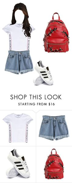 """""""Outfit"""" by elzikaa on Polyvore featuring Givenchy, adidas and Moschino"""