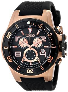 MULCO Unisex MW1-29828-023 Analog Display Swiss Quartz Black Watch