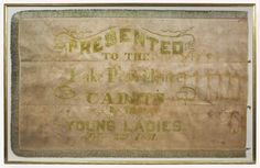 Flag of the Lake Providence Cadets, Company C, 4th Louisiana Infantry Regiment.