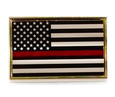 26a9f561e728 Thin Red Line Fire Fighter Support Flag Lapel Pin Tie Tack (Free Shipping)  by
