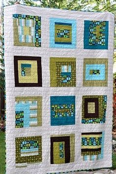 Scrappy Modern Quilt | Fiber Art & Quilts | Pinterest