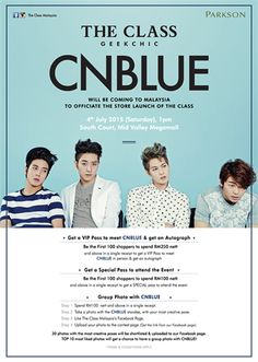 22 Jun-24 Jul 2015: The Class Grab VIP Passes To Meet CNBLUE