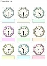 Printable worksheets for kids What time is it? Clock Worksheets, French Worksheets, Kids Math Worksheets, Printable Worksheets, School Frame, Reading Comprehension Worksheets, School Calendar, What Time Is, Teaching Time