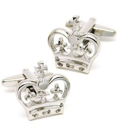 Silver Imperial Crown Cufflinks. we love cuff links, when my dad buys him some, I tell him not to forget mines