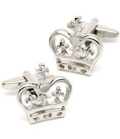 Silver Imperial Crown Cufflinks