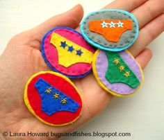 Bugs and Fishes by Lupin: How To: Felt Lucky Pants / Underpants / Knickers Badge