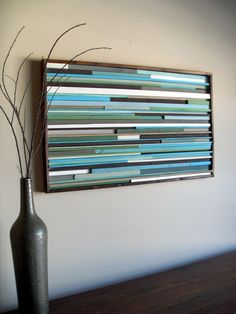Modern Wood Sculpture Wall Art  Reclaimed Wood  by moderntextures, $275.00