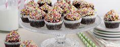 מיני קאפקייקס שוקולד עם סוכריות צבעוניות