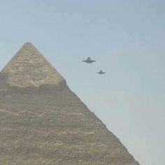 Unidentified flying objects over Pyramid of Egypt