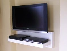 Floating AV component shelf - LCD/Flat TV stand (custom sizes & colors offered) in Entertainment Units, TV Stands   eBay