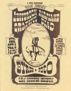 Jefferson Airplane, Grateful Dead, Byrds, Poco - Sam Houston Coliseum Houston, TX Oct.1969