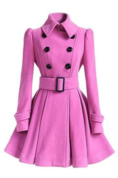 ForeMode 2016 Fashion high quality Europe Winter Coat Belt Buckle trench Coat Double-breasted coat Long Sleeve Casual Dresses