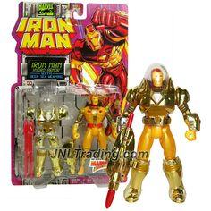 ToyBiz Year 1994 Marvel Comics IRON MAN Series 5 Inch Tall Action Figure - HYDRO ARMOR IRON MAN with Deep Sea Weapons Torpedo Launcher