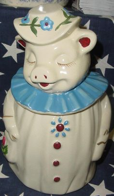 Image detail for -Winnie Pig repro cookie jar not old - Cookie Jars by Jazzejunqueinc at Jazz'e Junque in Chicago ~ www.jazzejunque.com