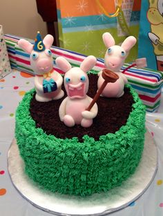 Rabbids Cake by Cathy Lachausse