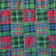 FABRIC14 QUILTING PIECED Cotton Plaid Shirting by DartingDogFabric