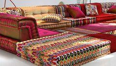 roche bobois mah jong modular sofa - hans hopfer design