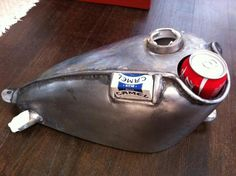 Custom motorcycle gas tank custom gas tank with cup holder can holder and cigarette holder.