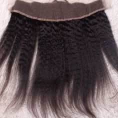 7A Brazilian Lace Frontal Closure 13x4 Kinky Straight Ear To Ear Lace Frontal With Baby Hair Virgin Human Hair Full Lace Frontal