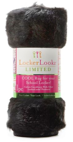 Black Plush Faux Fur Locker Rug: Design A Locker That Expresses Your  Individual Personality With