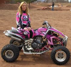 pink racing #quad #atv