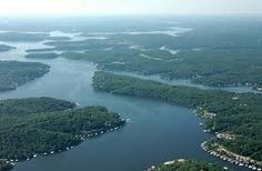 """Aerial view of """"Lake Of The Ozarks"""""""