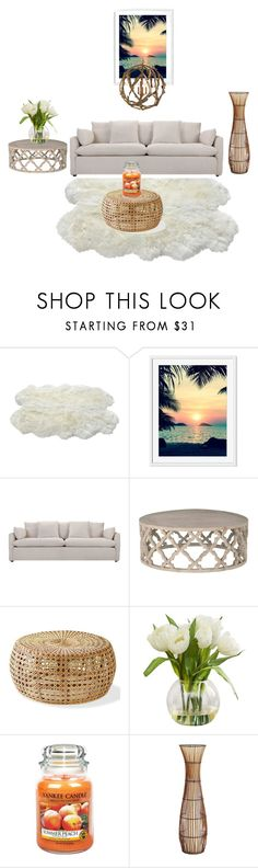 """Island 🌴 wood"" by bloodrose6 ❤ liked on Polyvore featuring interior, interiors, interior design, home, home decor, interior decorating, Luxe Collection, Gray Manor, Yankee Candle and Pier 1 Imports"