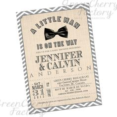 Vintage Baby Boy Shower Invitation CoEd by GreenCherryFactory