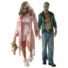 walking dead decomposed zombie and walking dead pajama zombie scary couples costume - Halloween Costumes 2013 Scary Couples Costumes, Couple Halloween Costumes, Halloween Make Up, Halloween Ideas, The Walking Dead, Bunny Slippers, Halloween Disfraces, Cosplay Costumes, Kimono Top
