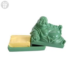 CKB Ltd Buddha Decoration Vintage Home Butter Dish - Jade Green - Novelty Cool Tray With Lid (*Amazon Partner-Link)