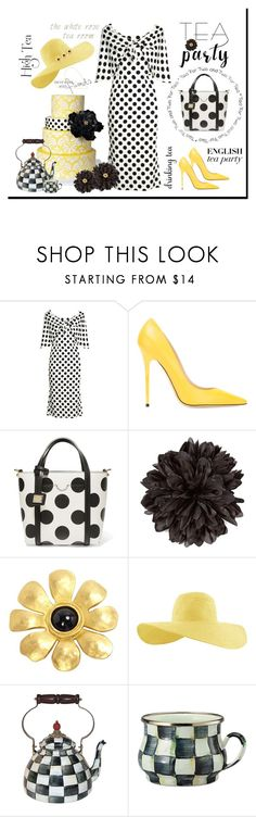 """""""A spot of tea"""" by outfitsloveyou ❤ liked on Polyvore featuring Dolce&Gabbana, Jimmy Choo, Gucci, Karl Lagerfeld and MacKenzie-Childs"""