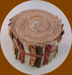"Autumn Dance Jelly Roll Cotton Fabric Quilting 21 2.5"" Strips Patchwork"