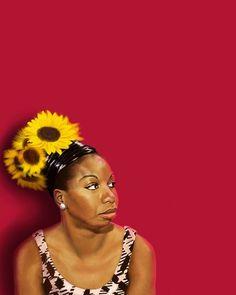 Nina Simone by Derin Tyler Kisanii https://www.behance.net/derinfletcher https://www.instagram.com/baldartist_/ http://unisexgvt.tumblr.com/ http://twitter.com/DerinLouise