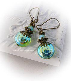 Ohrhänger Uranglas von Happy-about-Pearls Trendschmuck & Accessoires auf DaWanda.com