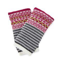 Pistil Designs Women's Anika Wristlet, Black, One Size. Mixed Knit Patterns. Multicolor Designs. Lightweight Wristlet.