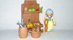 Playmobil Navidad Mujer Vendedora con Puesto y Alimentos, Pastora Custom, Portal