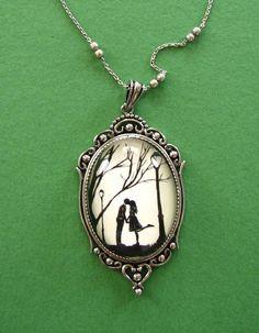 Autumn Kiss Necklace, pendant on chain. $50.00, via Etsy.