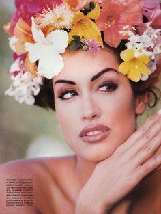 "Vogue Italia, June 1992  ""Flowers""  Beautiful Yasmin Ghuri ... xx"
