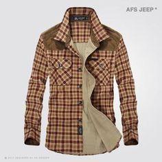 Men's Plaid Cotton Long Sleeve Shirts